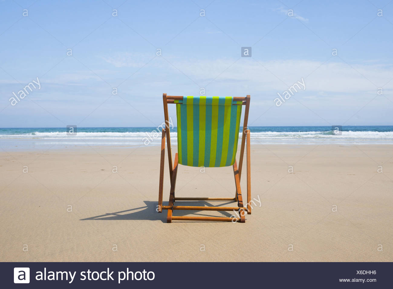 Sunbed on the beach, - Stock Image