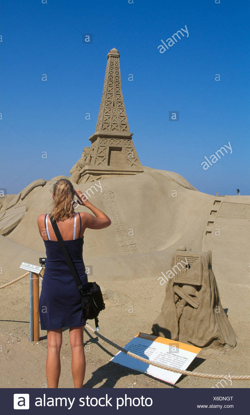 Sandworld, Travemuende, Luebecker Bucht Bay, Schleswig-Holstein, Germany, Europe - Stock Image