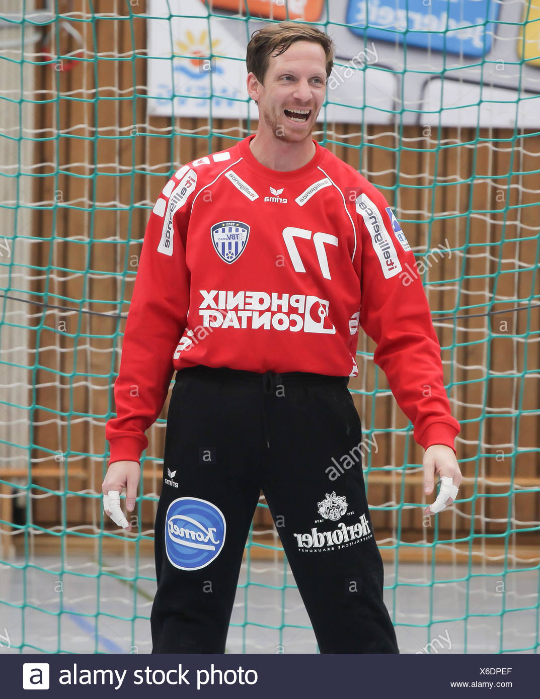 Goalkeeper Dan Beutler (TBV Lemgo) Stock Photo