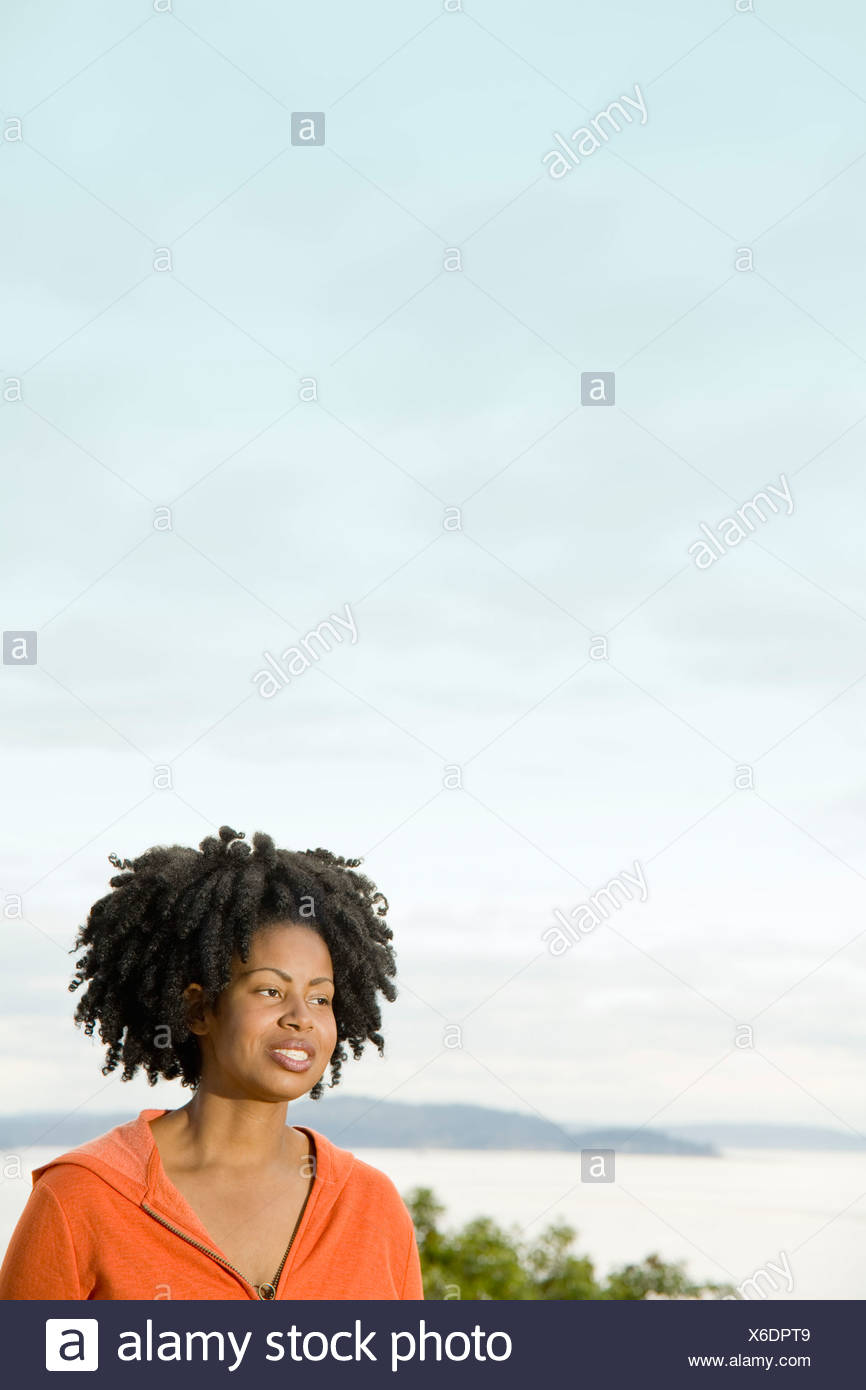 African woman with dreadlocks Stock Photo