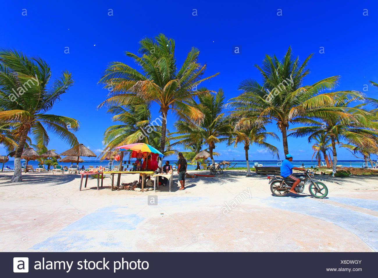 Mexico Quintana Roo Costa Maya Mahahual Beach Stock Photo Alamy