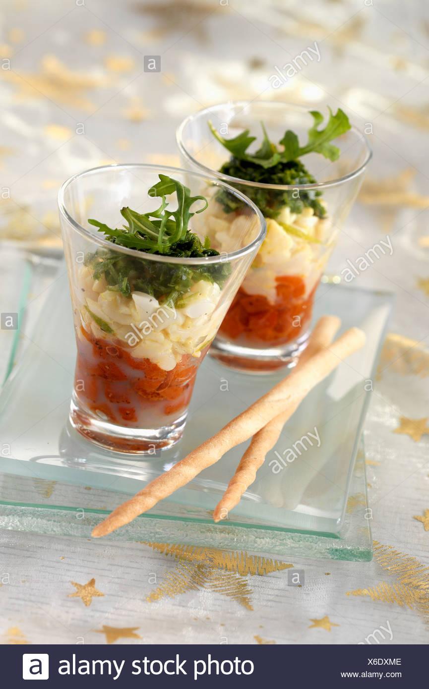 Gourmand trio - Stock Image