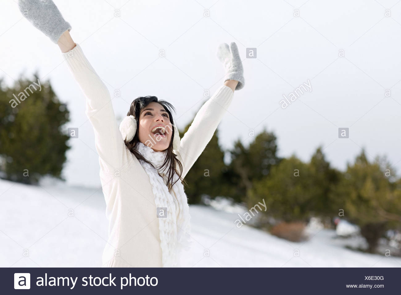 Joyous woman - Stock Image