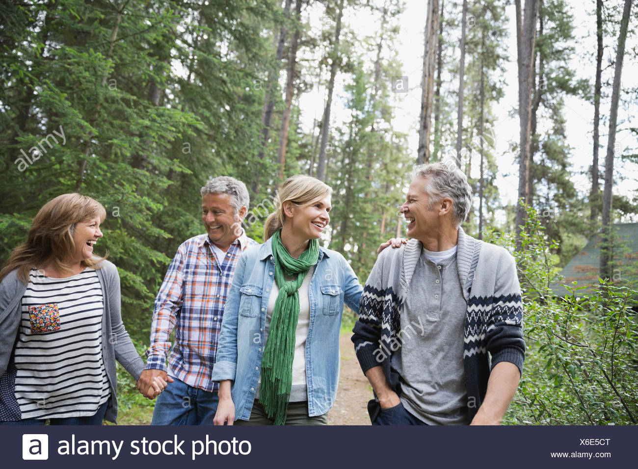 Middle Aged Friends Looking Baby Stock Photos Amp Middle