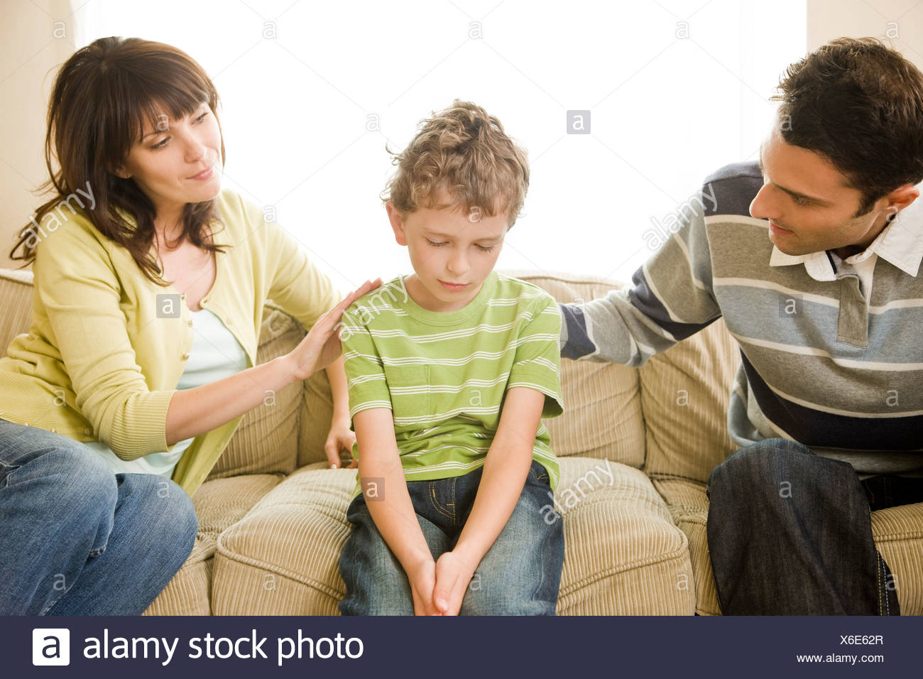 parents talking with son Stock Photo: 279365935 - Alamy