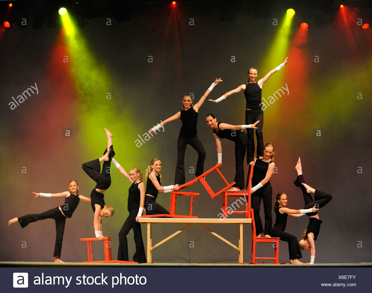 Gymnastics Youth National Finals review shows, Internationales Deutsches Turnfest International German Gymnastics Festival 2009 - Stock Image