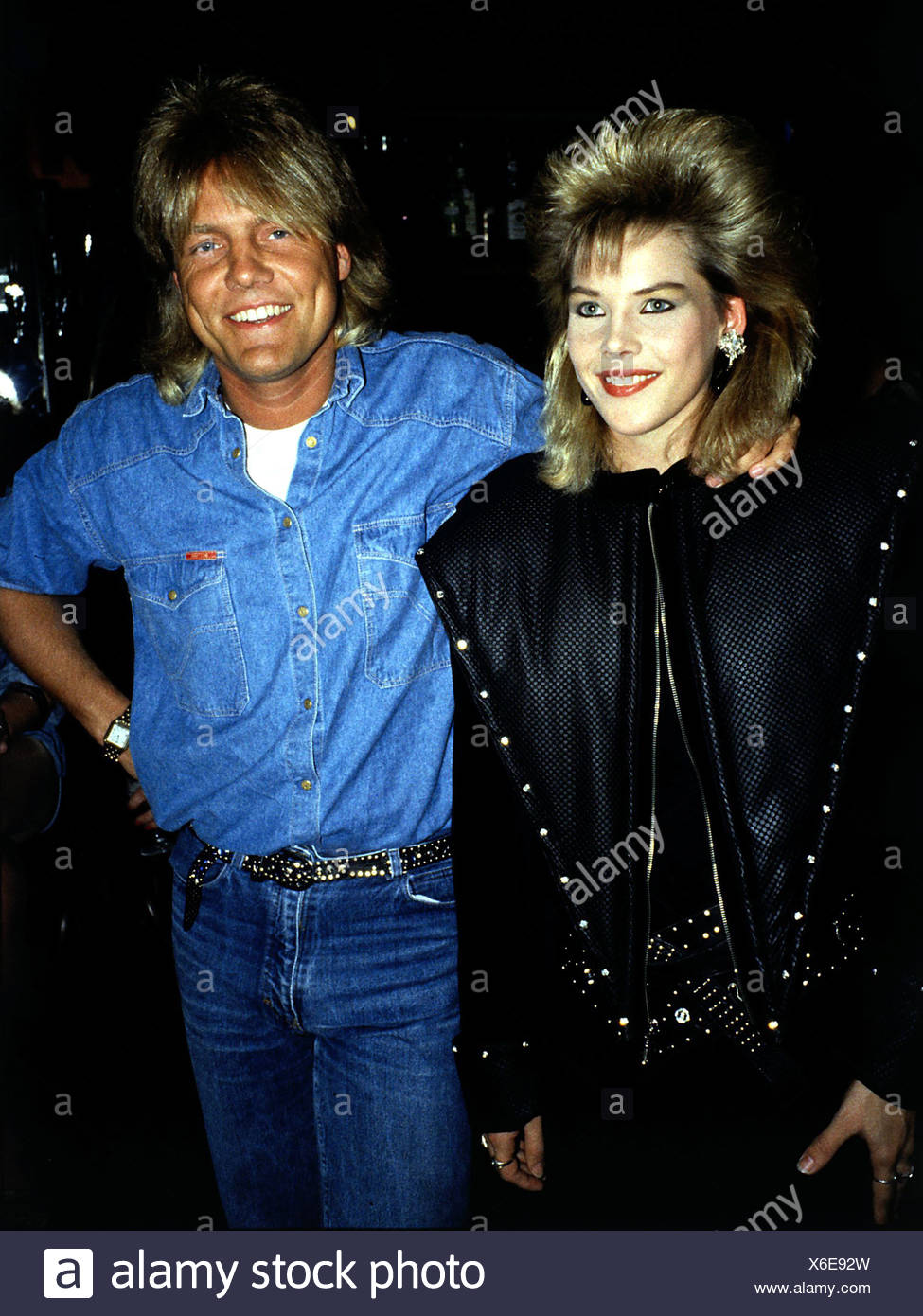 Bohlen Dieter, * 7.2.1954, German musician, songwriter, half length, as singer of the pop duo 'Modern Talking', with C.C. Catch, - Stock Image
