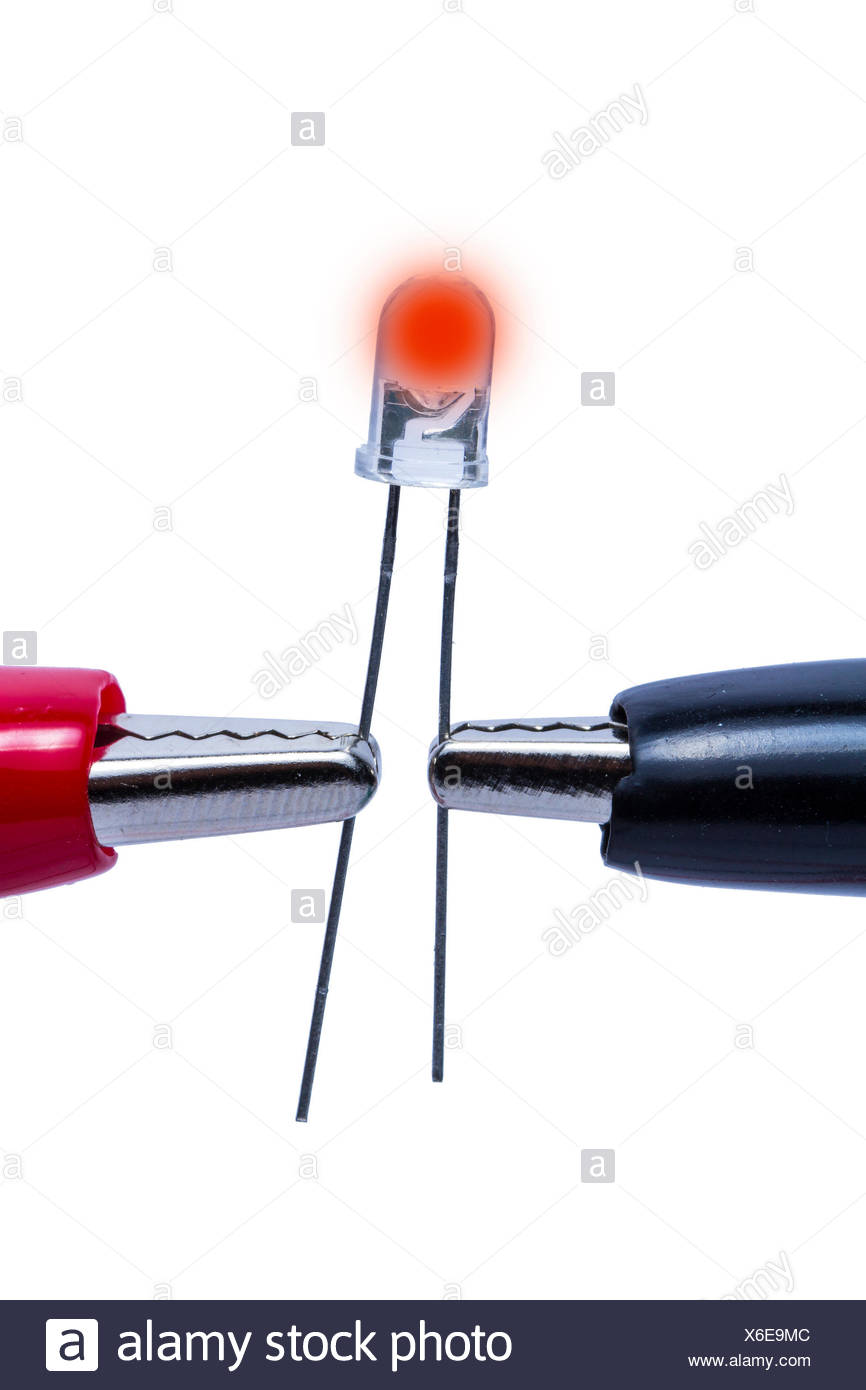 light-emitting diode led red Stock Photo