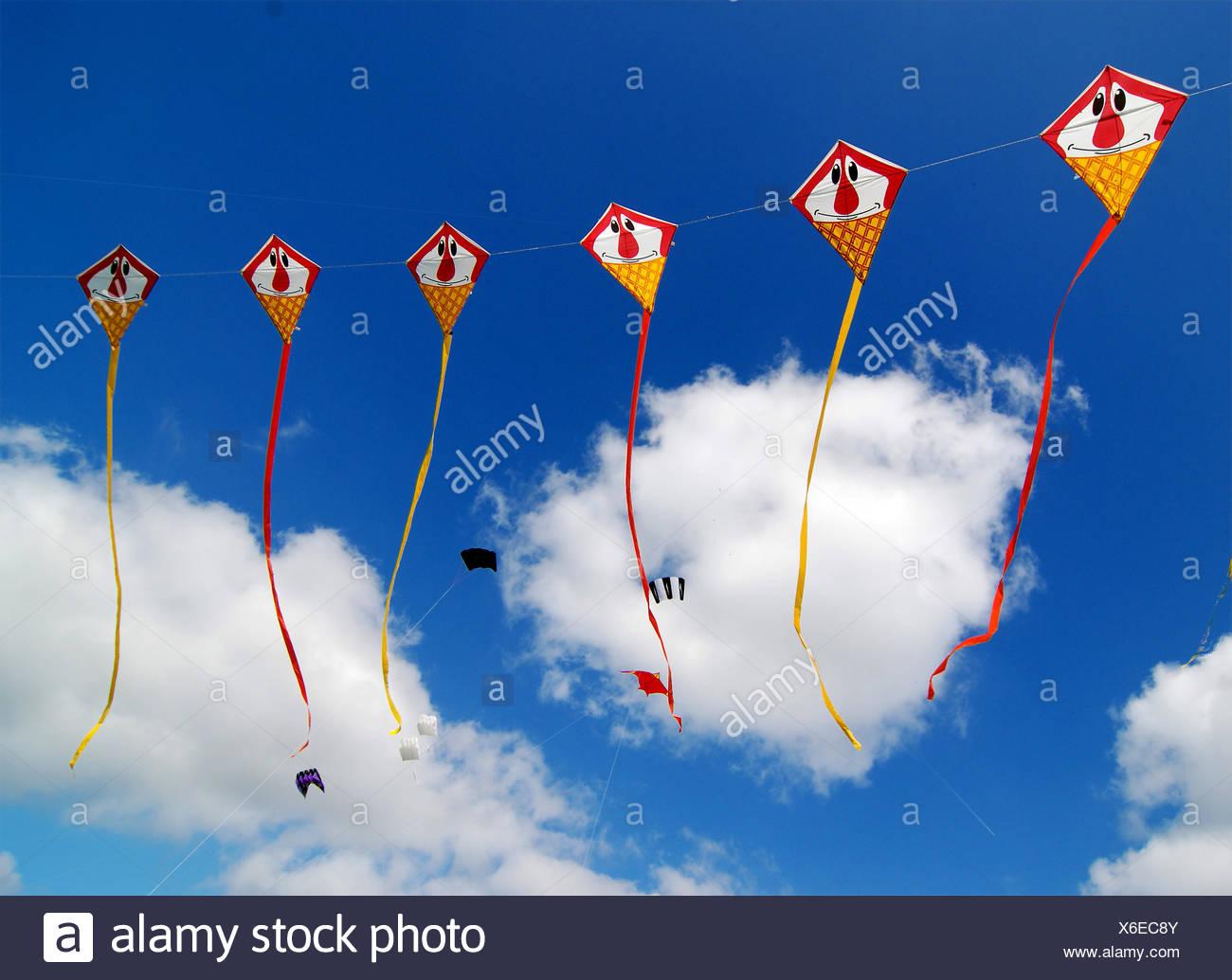 kite,kites,kite,kites,drachenfest,drachenfest - Stock Image