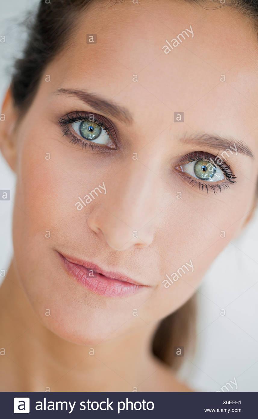 Portrait of a beautiful woman - Stock Image