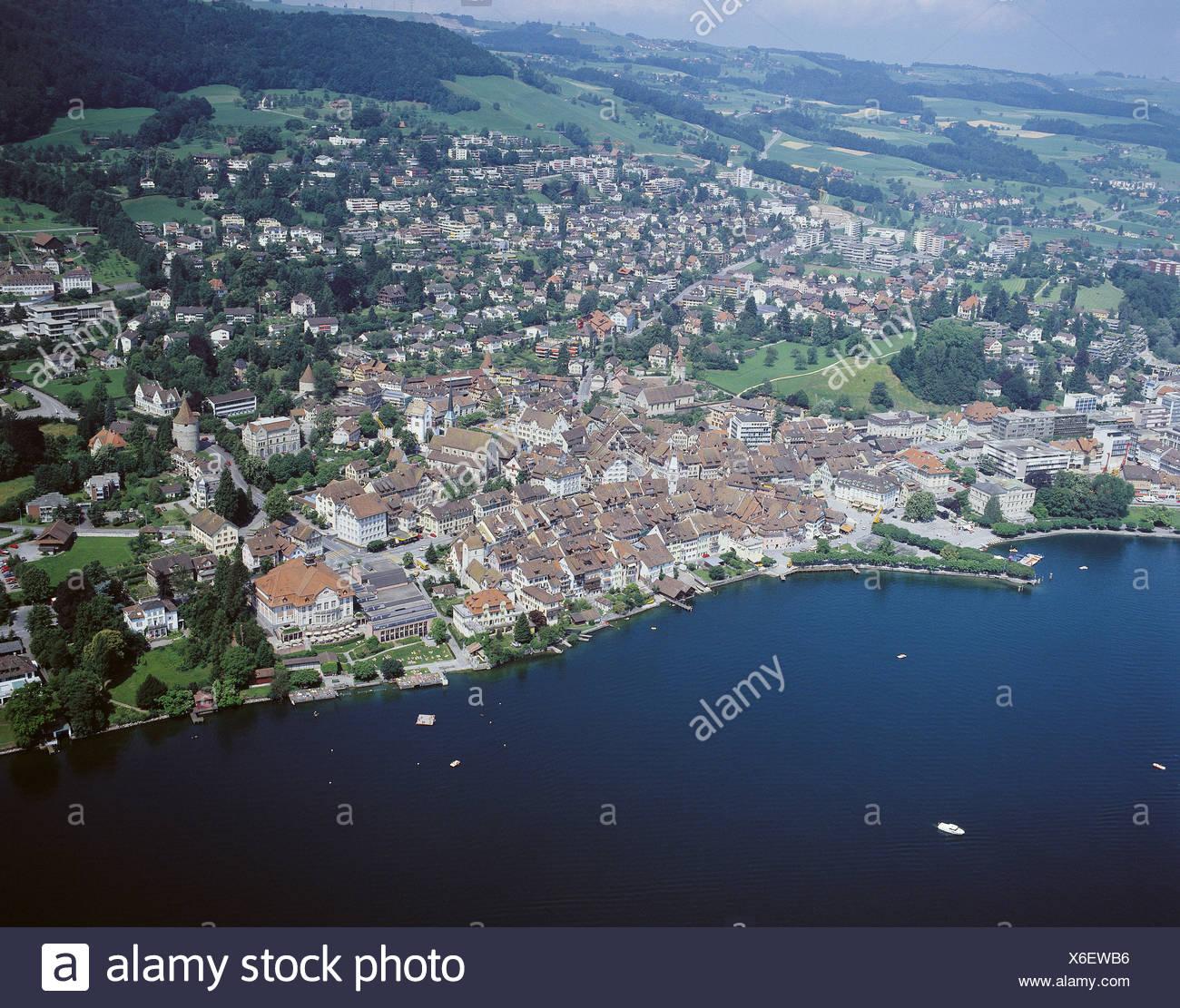 Zug Switzerland Aerial Stock Photos & Zug Switzerland Aerial Stock ...