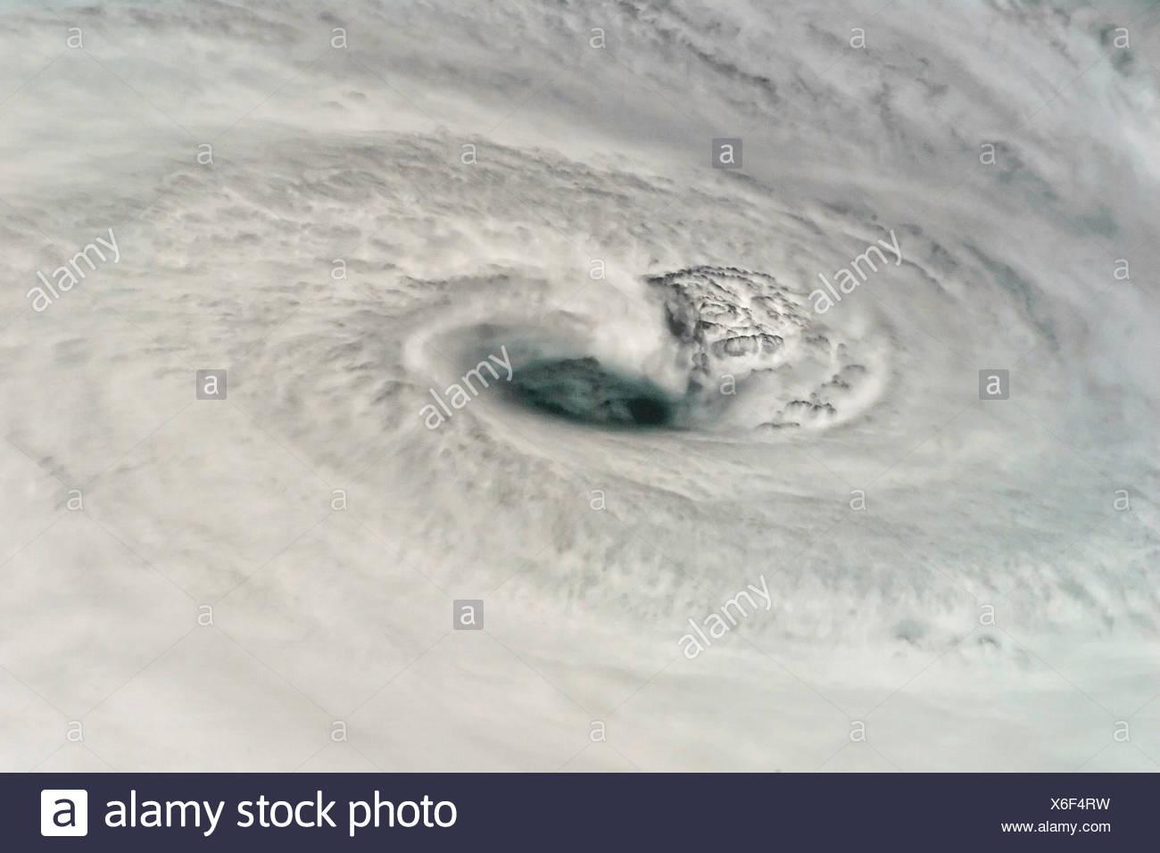 Eye of Hurricane Dean - Stock Image