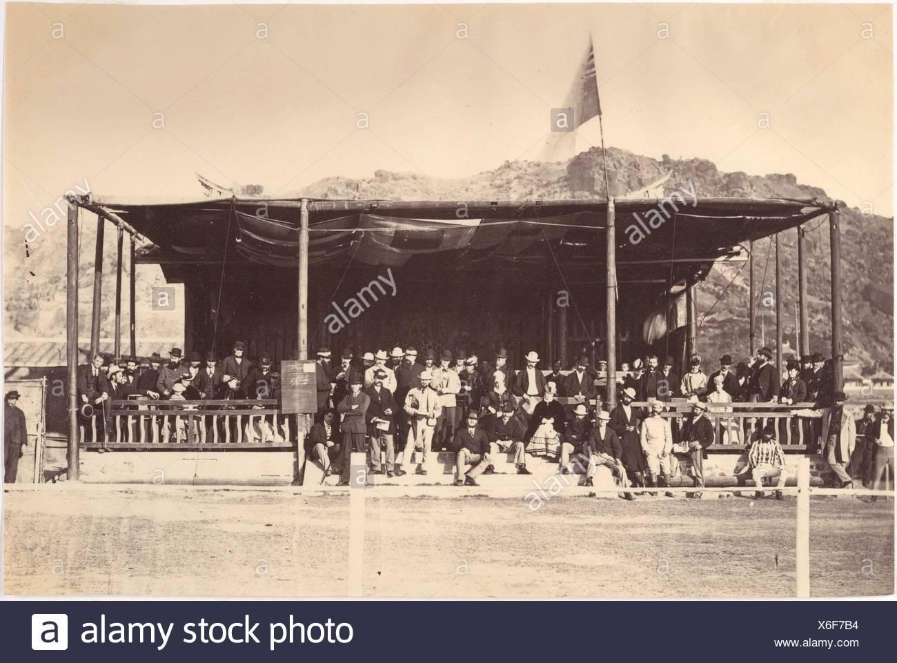 The Grand Stand, Amoy 1871. Artist: Attributed to John Thomson (British, Edinburgh, Scotland 1837-1921 London); Date: 1871; Medium: Albumen silver - Stock Image