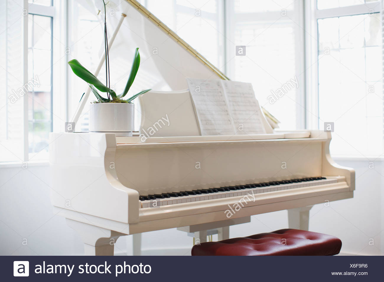 Grand Piano Bench Stock Photos & Grand Piano Bench Stock Images - Alamy