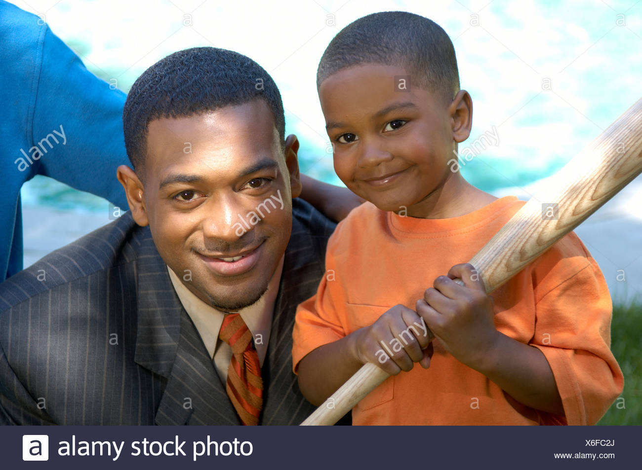 African father and son - Stock Image