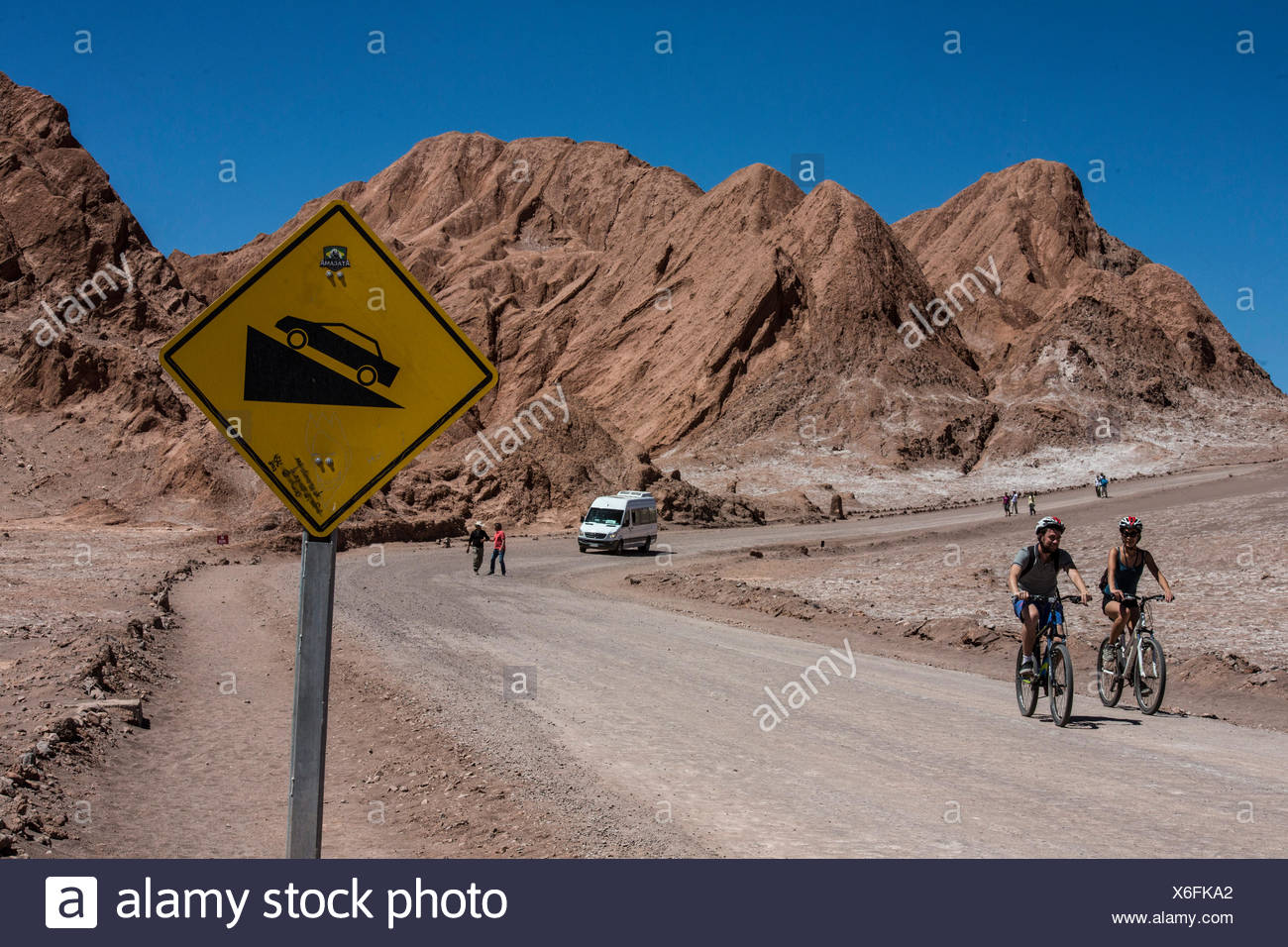 Valle de la Luna in the Atacama desert, - Stock Image