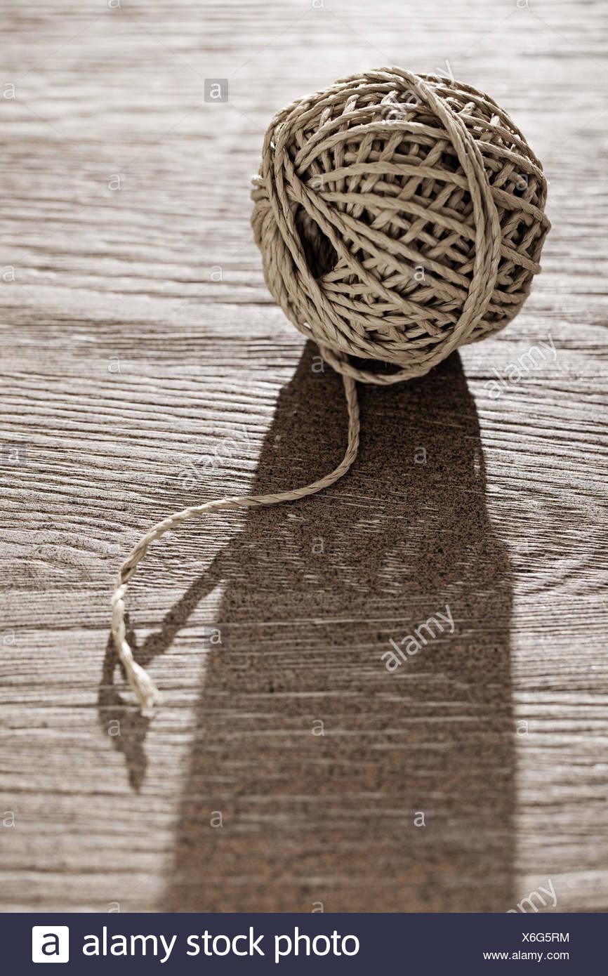 Balls, Knitting skein, rope, cord, - Stock Image