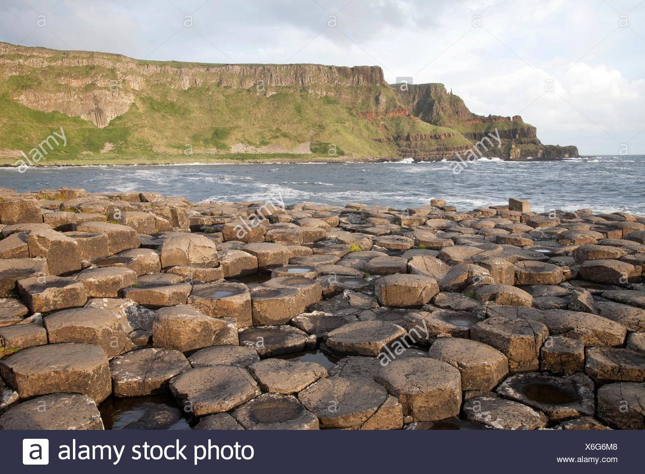 Giants Causeway, County Antrim, Northern Ireland. Stock Photo