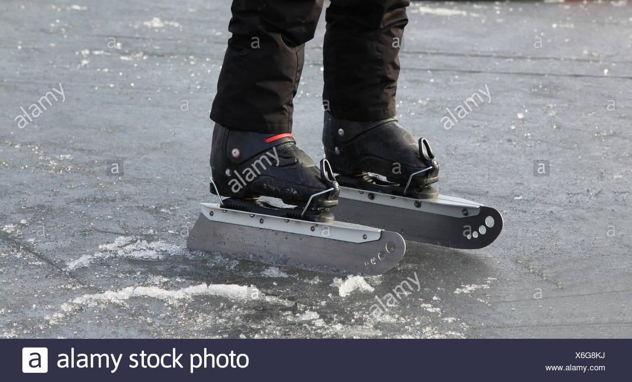 giant Ice Skate - Stock Image
