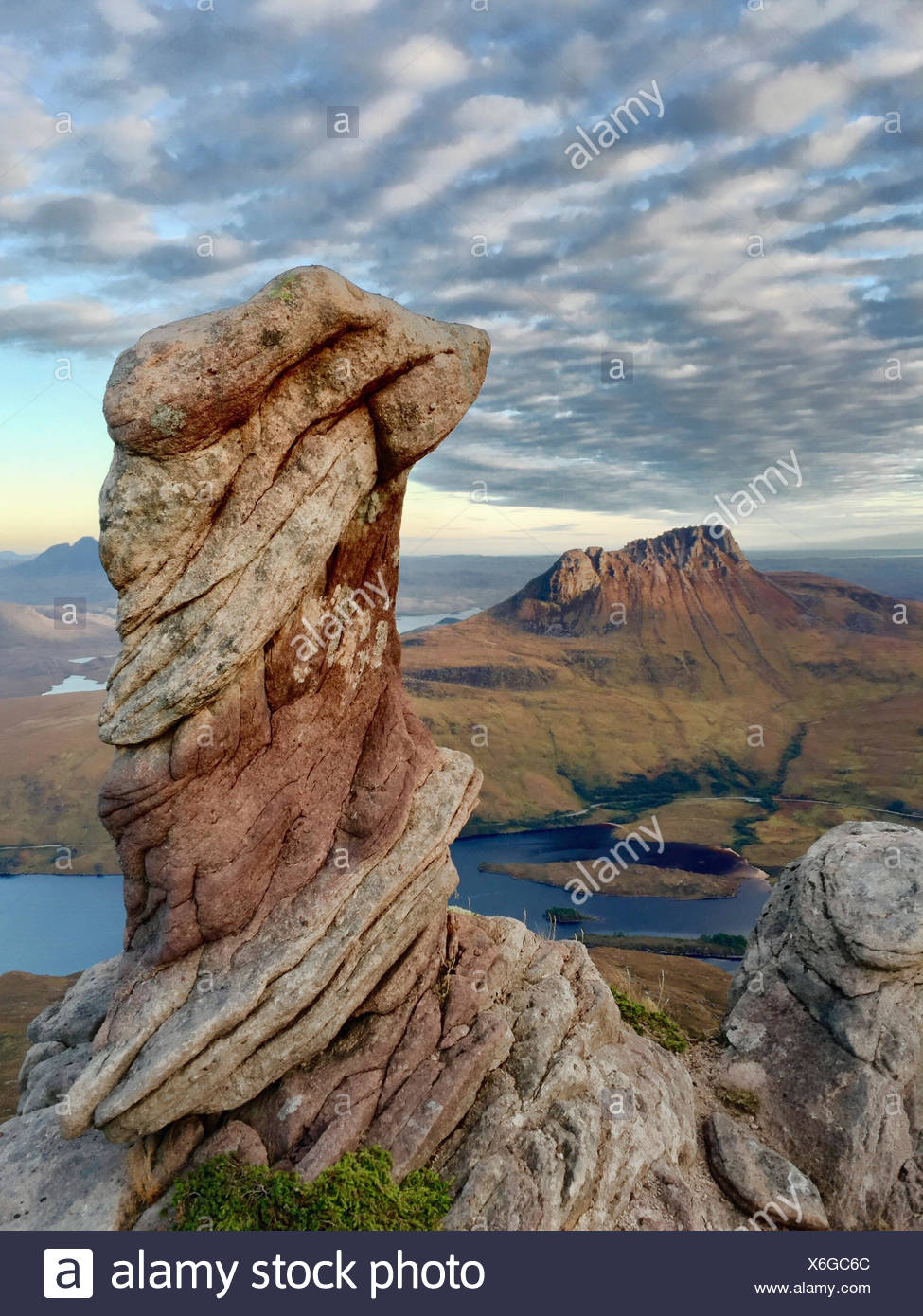 Sgorr Tuath, a peak in the northwest of Scotland. - Stock Image