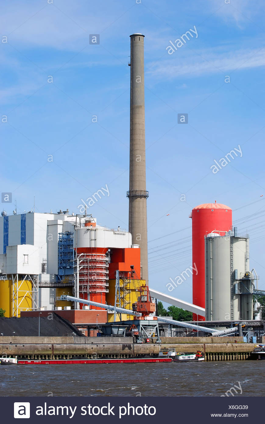 Power plant - Coal-fired power plant - Stock Image