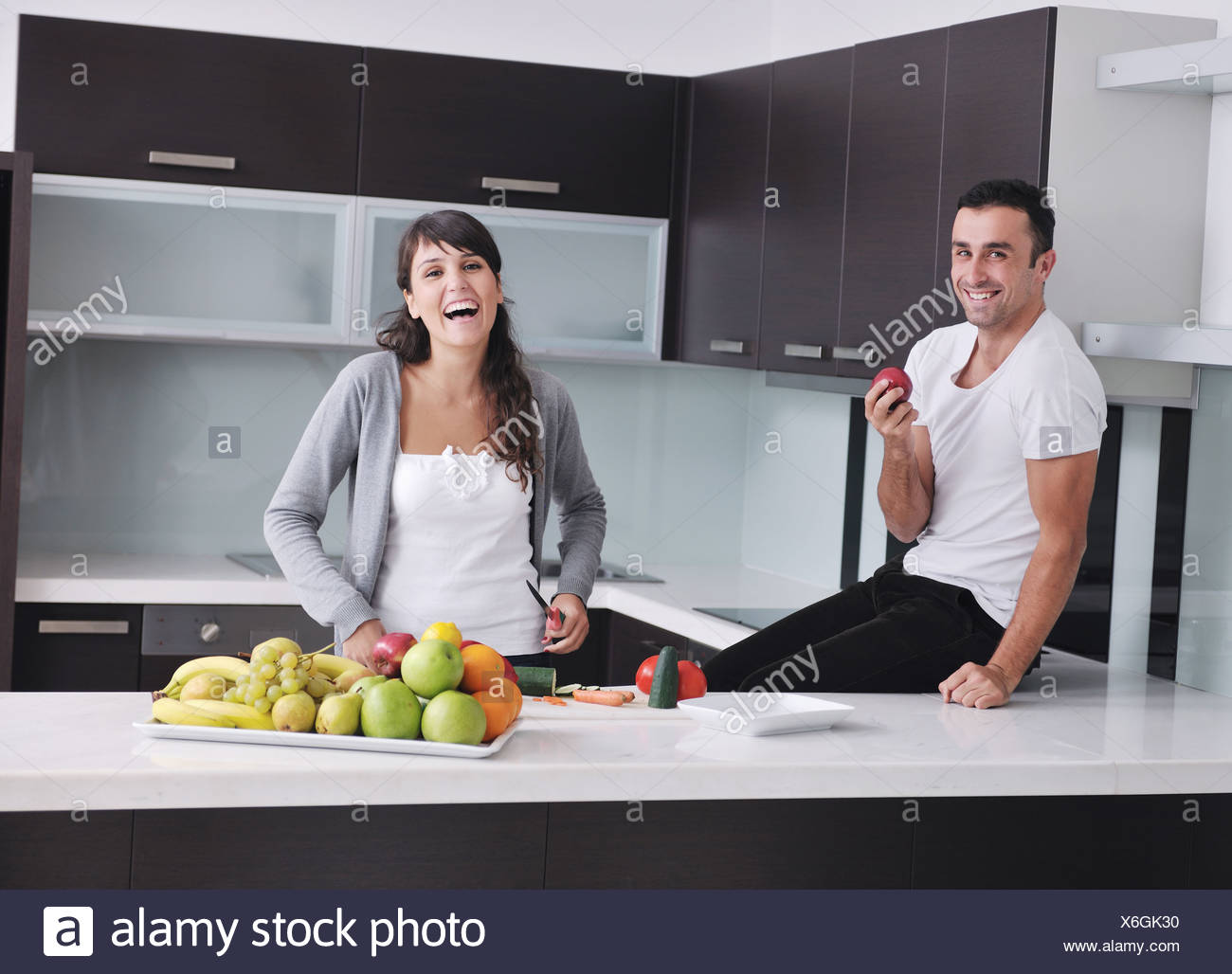 Two Women In Kitchen Stock Photos & Two Women In Kitchen Stock ...