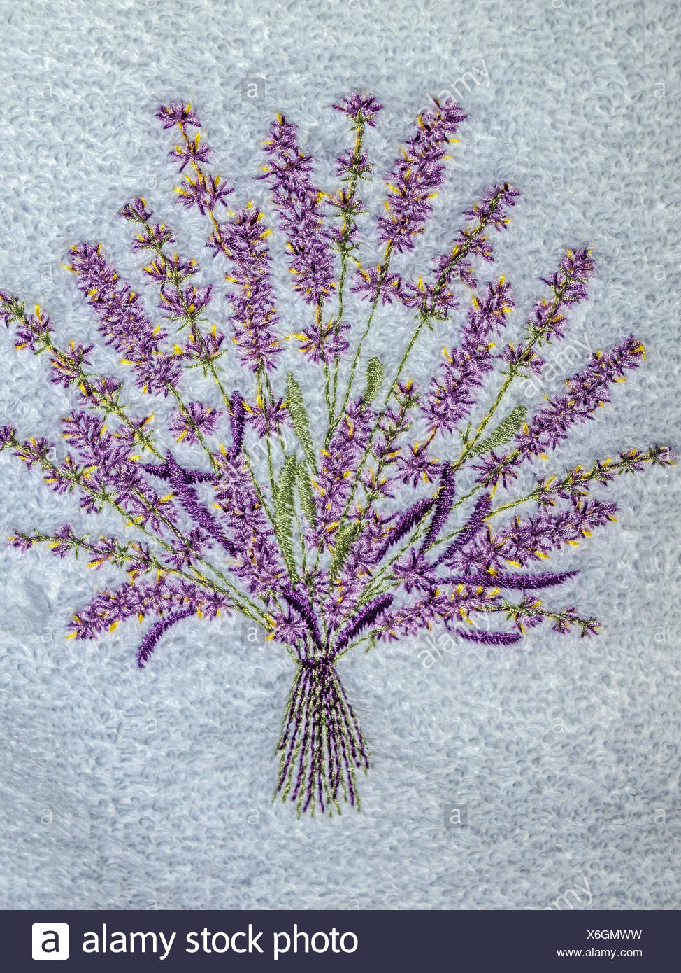 Embroidered Flower On Cloth Sintra Portugal - Stock Image