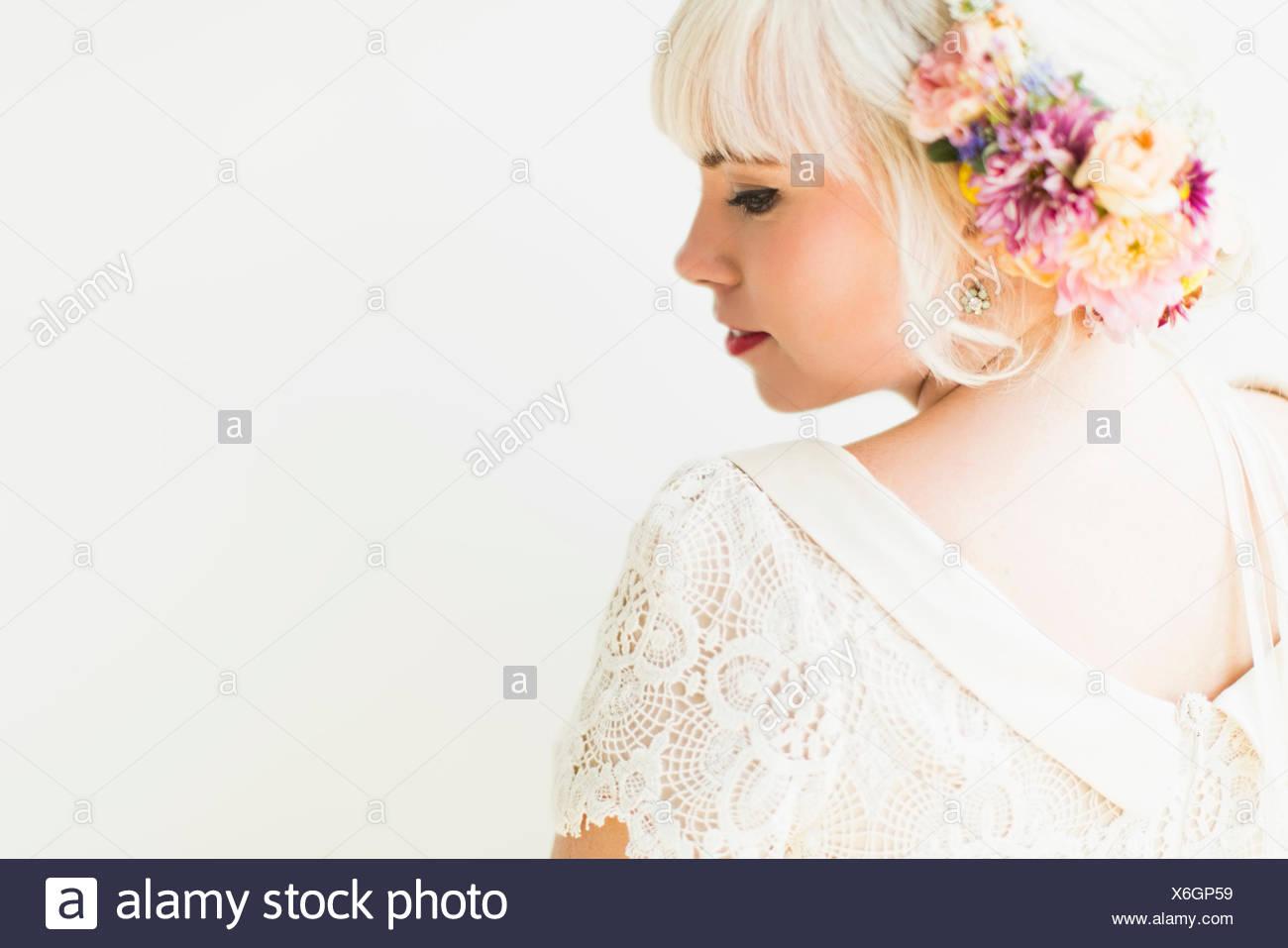 Portrait of bride - Stock Image