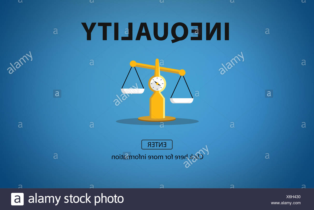 Inequality Imbalance Victims Prejudice Bias Concept - Stock Image