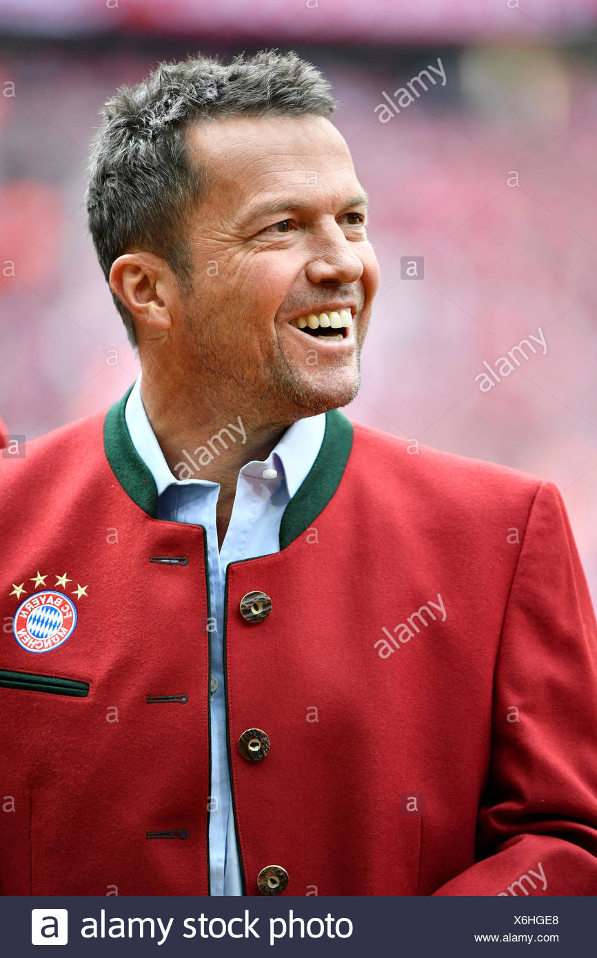 Lothar Matthäus, portrait, German football championship, Allianz Arena, Munich, Bavaria, Germany Stock Photo