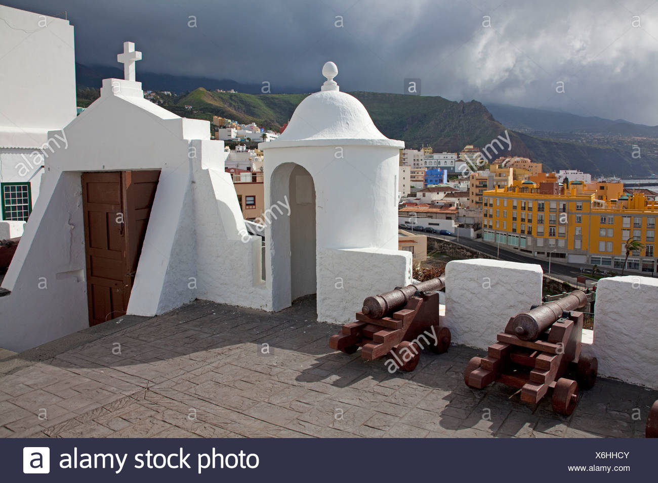 The fortress Castillo de Santa Catalina, Santa Cruz de la Palma, La Palma, Canary Islands, Spain, Europe, Atlantic Ocean - Stock Image
