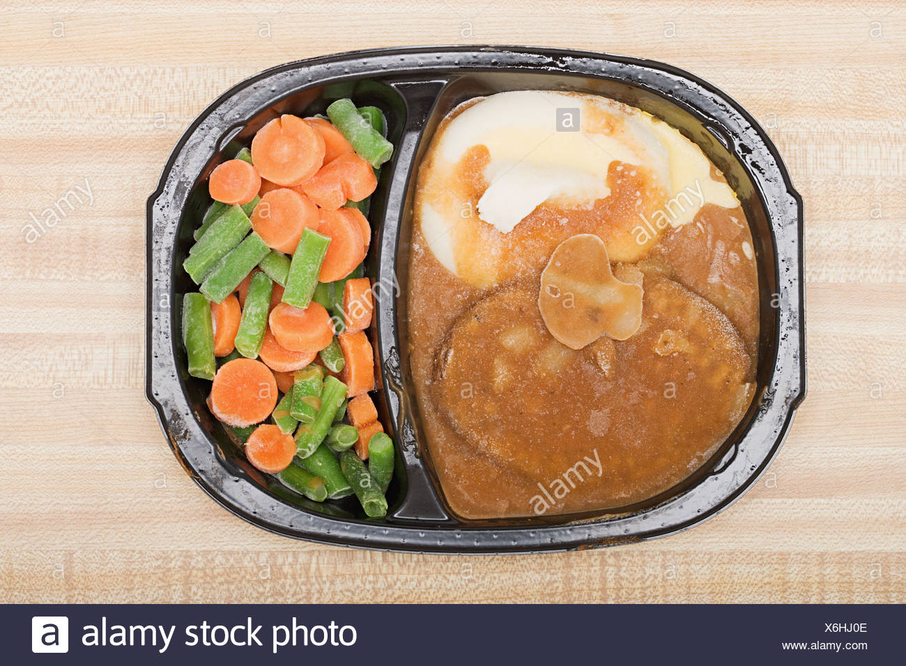 Frozen tv dinner - Stock Image