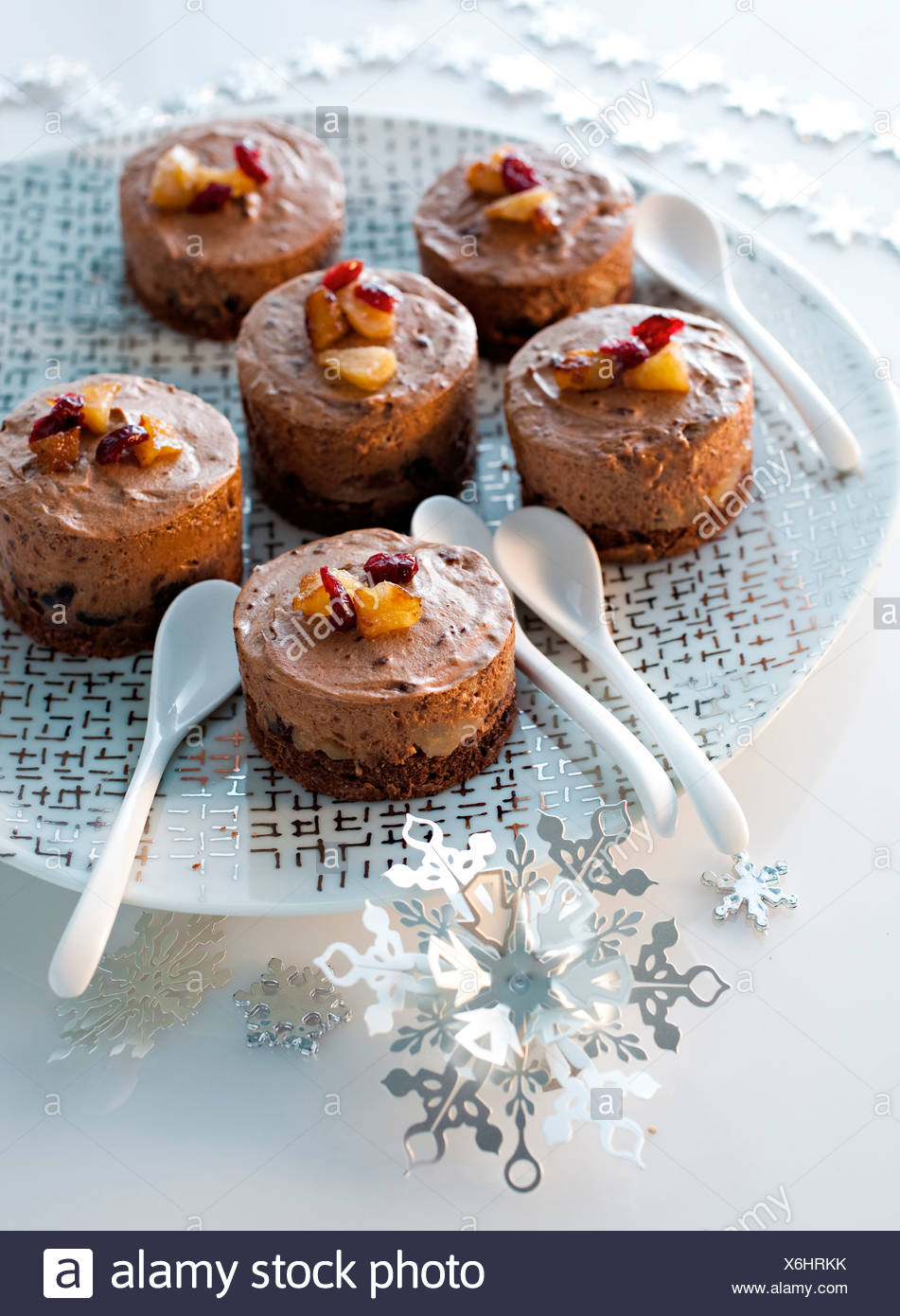 Christmas Gourmet Dream with Pears, Caramel and chocolat - Stock Image