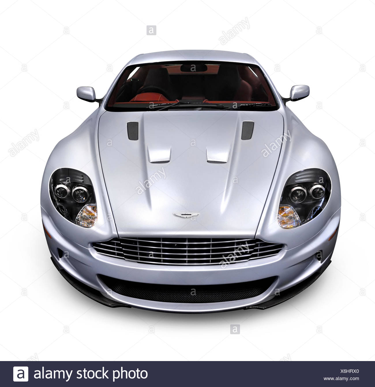 2009 Aston Martin DBS luxury car, front view - Stock Image