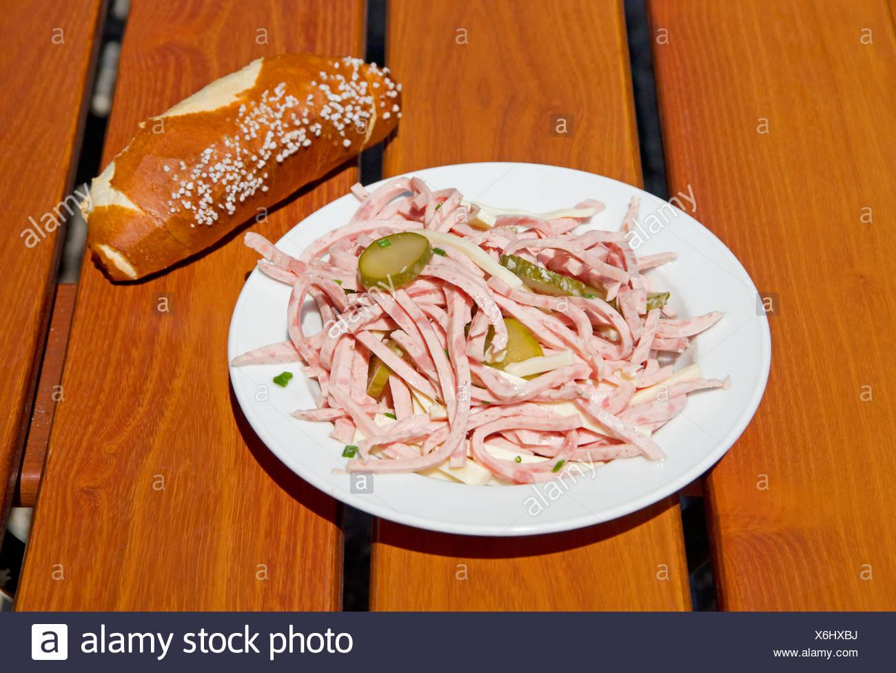 Wurstsalat Oktoberfest - Stock Image