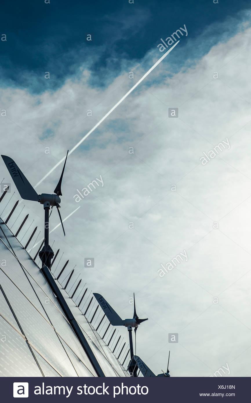 Wind turbines and solar panels, Dugi Otok, Croatia - Stock Image