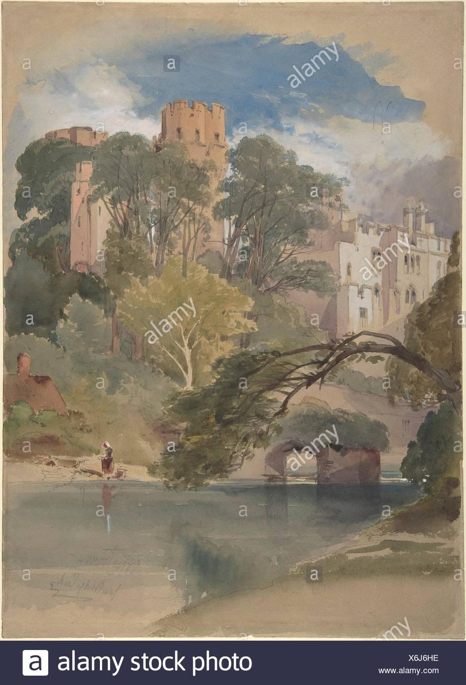 Caesar´s Tower, Warwick Castle. Artist: William Callow (British, Greenwich 1812-1908 Great Missenden, Buckinghamshire); Date: ca. 1850; Medium: - Stock Image