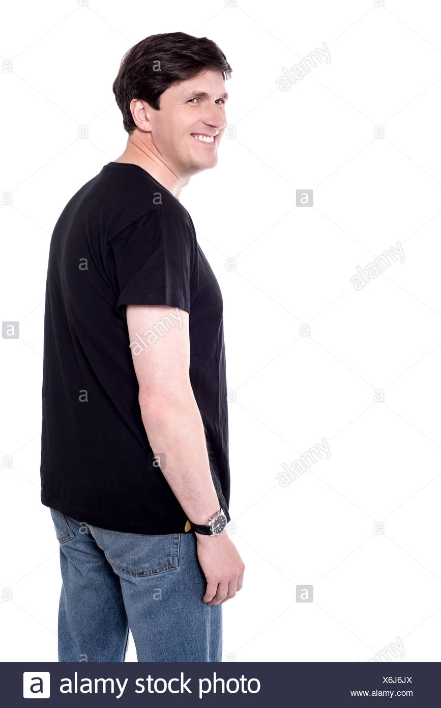 Casual man with elegant smile. - Stock Image
