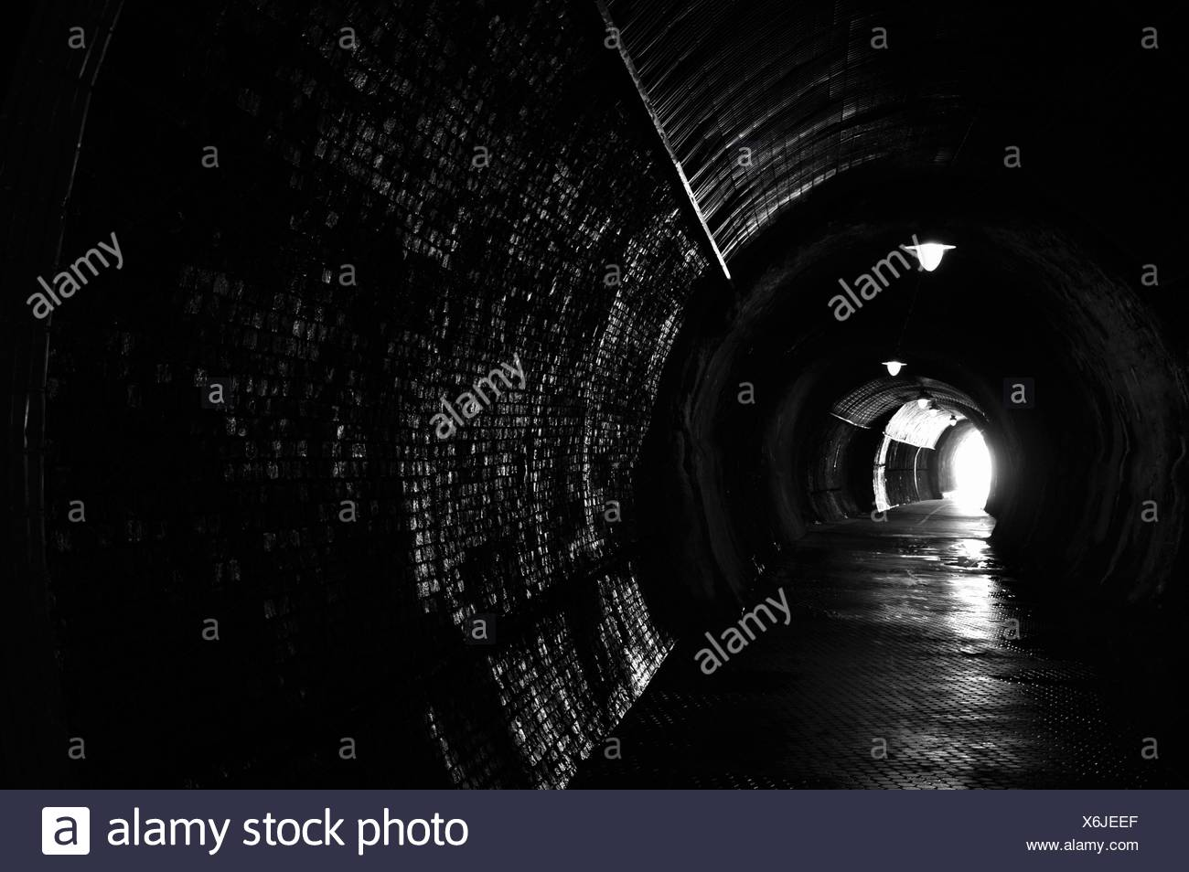 Light At End Of Tunnel - Stock Image