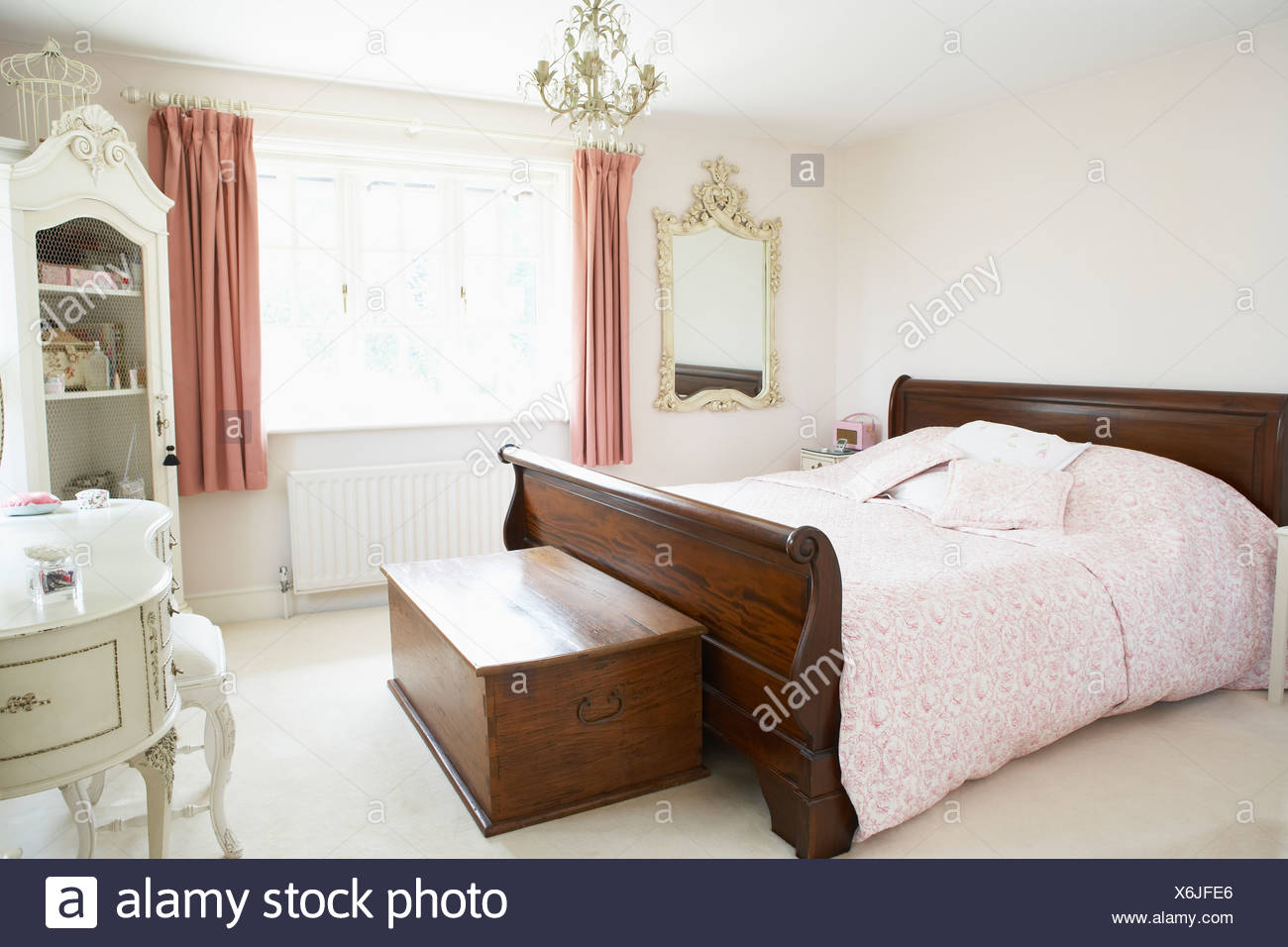 Interior Of Bedroom - Stock Image