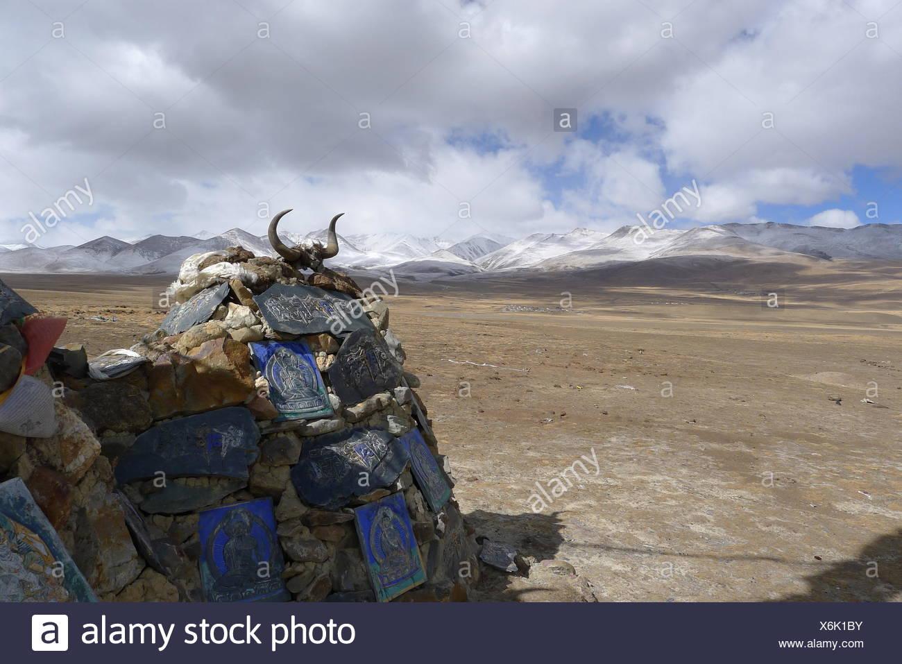 Religious shrine, Tibet, China - Stock Image