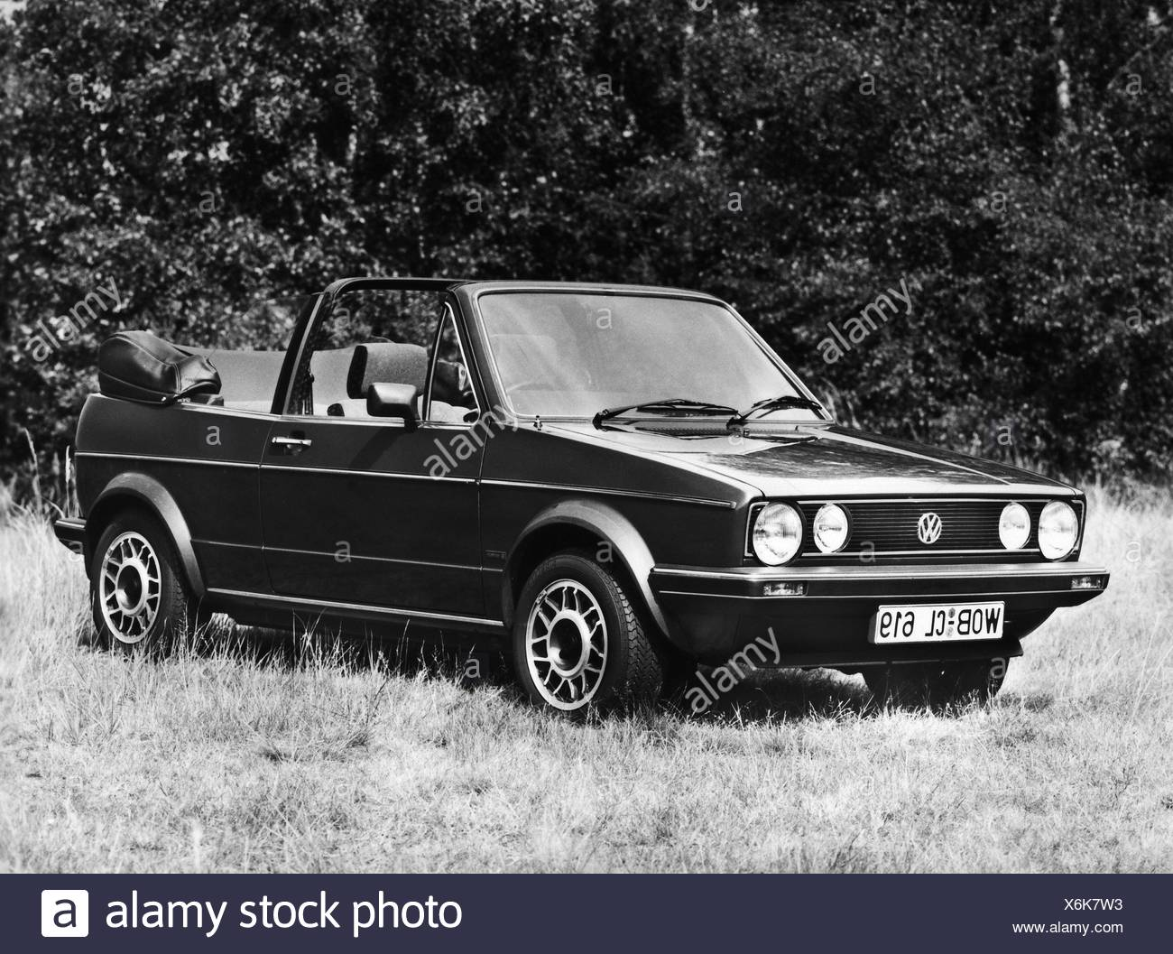 transport / transportation, car, vehicle variants, Volkswagen, VW Golf Mk2 convertible, 1980s, Additional-Rights-Clearences-NA - Stock Image