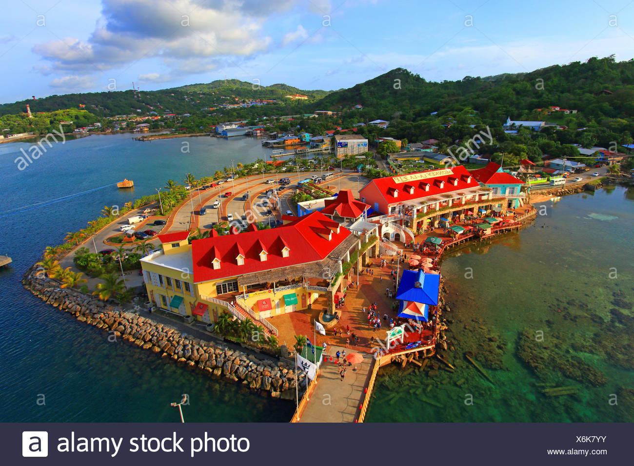 Honduras Islas De La Bahia Roatan Island Coxen Hole Stock Photo