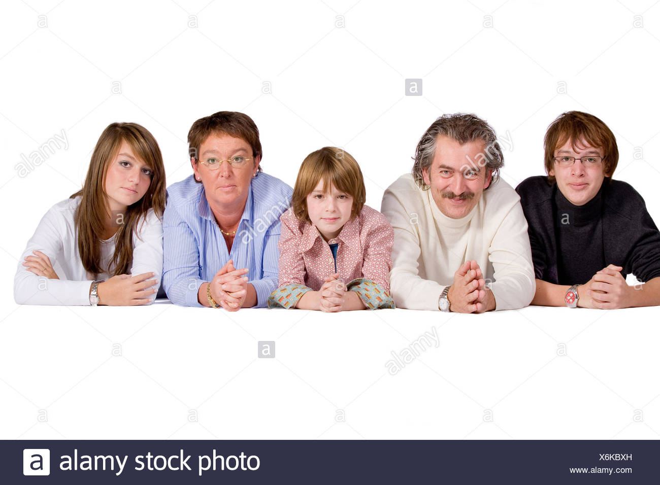 isolated delighted unambitious - Stock Image