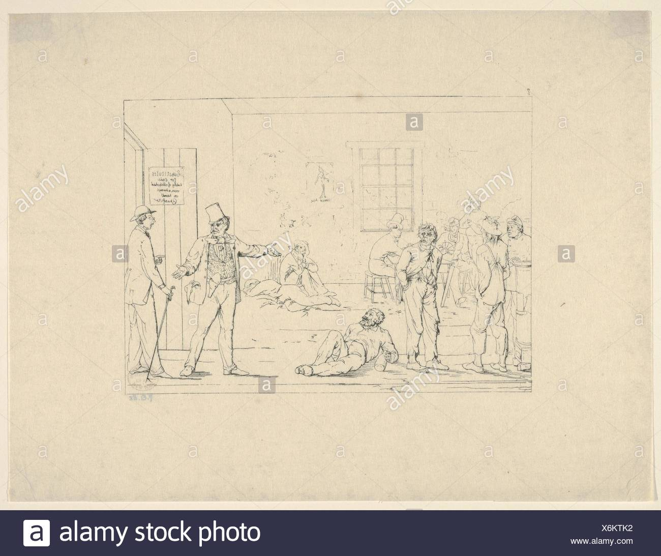 Buying a Substitute in the North during the War (from Confederate War Etchings). Artist: Adalbert John Volck (American (born Germany), Augsburg - Stock Image