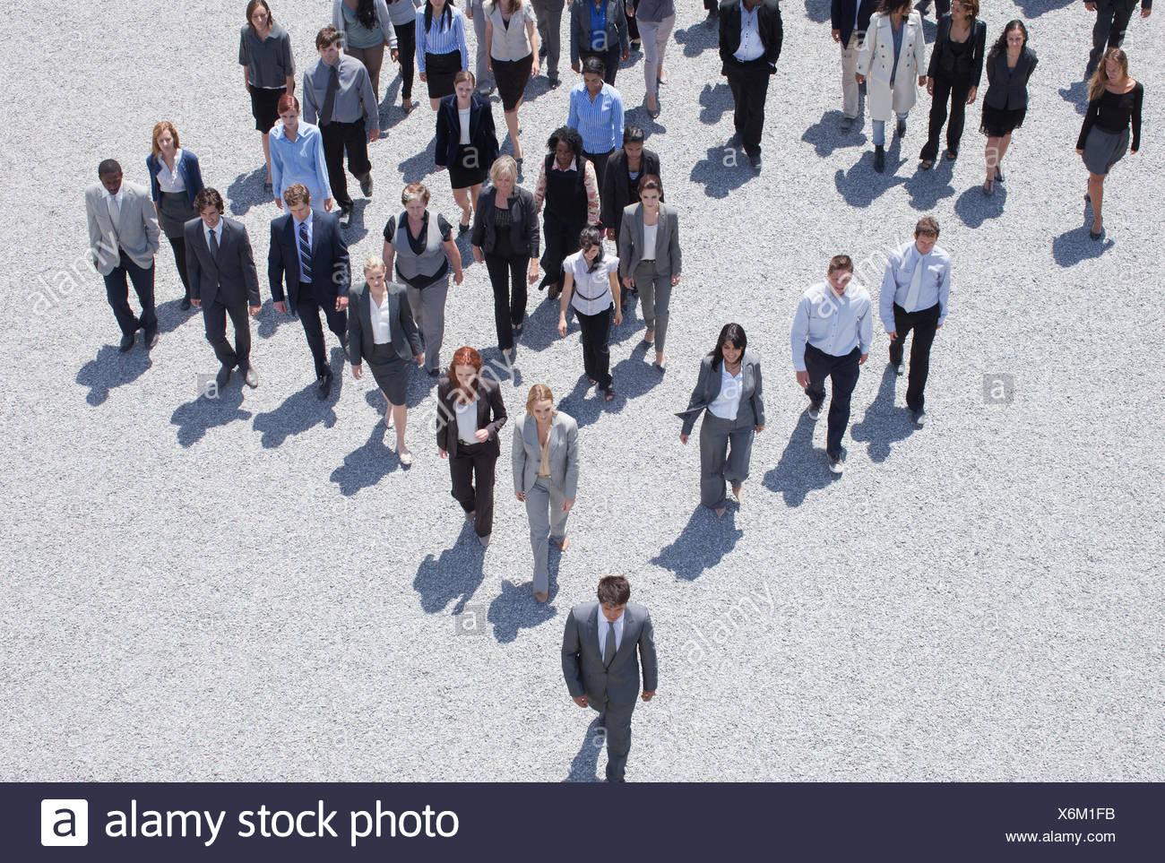Business people walking - Stock Image