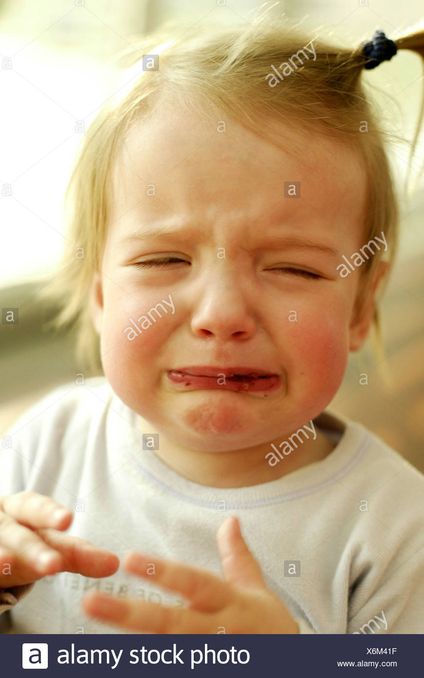 Girl, mouth, smears, cry, portrait, child portrait, child, 300 - 30