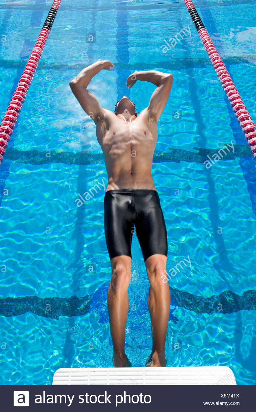 Backstroke starting stock photos backstroke starting - Swimming pool leipzig ...