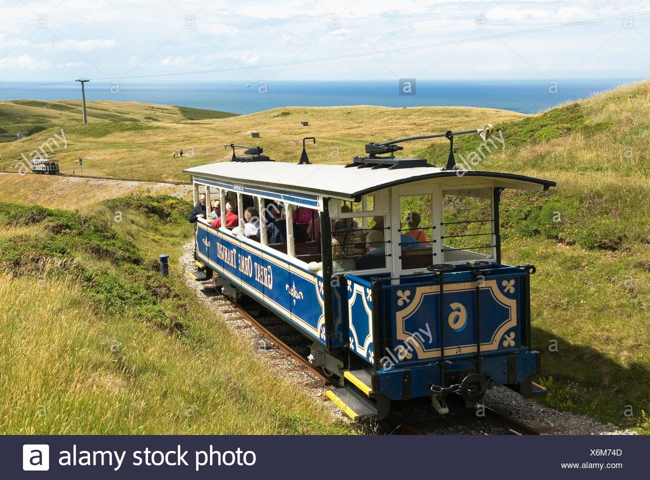 Great Orme Tramway,Llandudno,Wales,United Kingdom,Great Britain,Europe Stock Photo