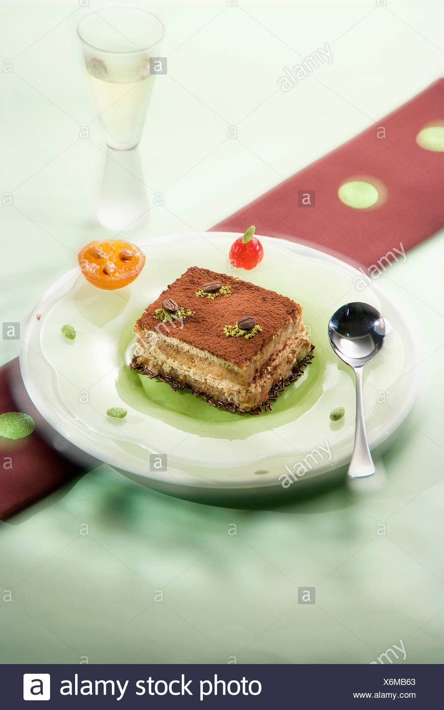 Tofu Tiramisu - Stock Image